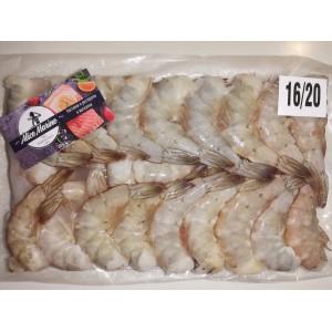 Креветка Ваннамей блочной заморозки 16/20  1,8 кг.